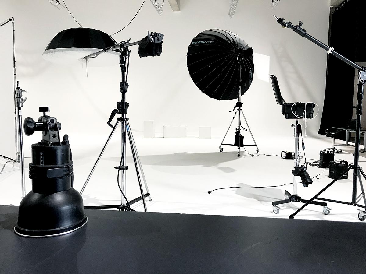 Behind the scenes fotostudio